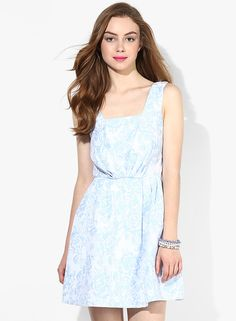 Buy Miss Selfridge Blue Colored Printed Skater Dress Online - 2792595 - Jabong Best Online Fashion Stores, Lakme Fashion Week, Buy Shoes, Shoe Brands, Skater Dress, Miss Selfridge, Cold Shoulder Dress, India, Casual