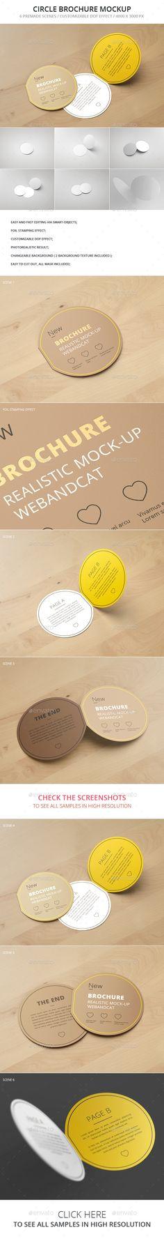 Circle Bi-Fold Brochure Mockup. Download here: http://graphicriver.net/item/circle-bifold-brochure-mockup/14694810?ref=ksioks