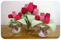 Mais tulipas... Fonte de inspiração: Pano Patch