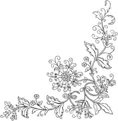 Flower Embroidery Pattern Free Printable Coloring Pages for Adults Wedding Coloring Pages, Flower Coloring Pages, Coloring Book Pages, Fairy Coloring, Mandala Coloring, Christmas Embroidery Patterns, Hand Embroidery Patterns, Embroidery Designs, Folk Embroidery