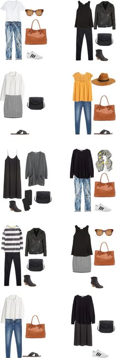 What to Wear on a mixed climate trip outfit options 1-10 #travellight #packinglight #traveltips #travel