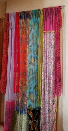 Grommet, door paneling - curtains - window treatments - window treatments tulle turn paneling curtainsImprove Your Closet with These Closet Door Ideas closet ideas Curtains For Closet Doors, Door Panel Curtains, Bedroom Doors, Curtain Closet, Door Panels, Scarf Curtains, Bohemian Curtains, Diy Curtains, Bedroom Curtains
