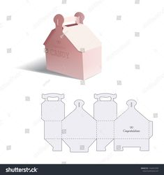 Find Retail Box Blueprint Template stock images in HD and millions of other royalty-free stock photos, illustrations and vectors in the Shutterstock collection. Creative Gift Wrapping, Creative Gifts, Candy Box Template, Children Food, Packing Ideas, Cookie Packaging, Cookie Box, Graphic Design Tips, Retail Box