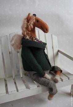 """Купить Лошадки """"Аксиния"""", """"Flame"""",валяные из шерсти - серый, лошадка игрушка, игрушка лошадь, лошадь"""