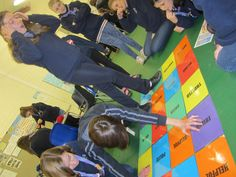 Guides playing Guide LAw Twister Game