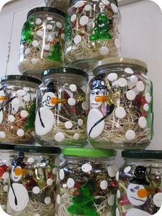 Bocaux et bonbons de Noël