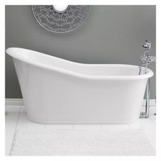 Cheviot Dakota 68 Inch Cast Iron Skirted Bathtub with Continuous Rolled Rim - No Faucet Drillings