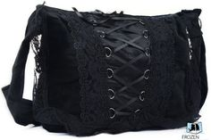 Gothic Messenger Bag | Gothic Bag | Black | Embroidered & Laced | College / Travel / Leisure bag / Fashion Backpacks http://www.amazon.co.uk/dp/B00FRJLRJW/ref=cm_sw_r_pi_dp_WRdzvb0QPC364