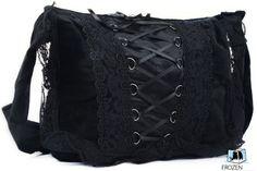 Gothic Messenger Bag | Gothic Bag | Black | Embroidered & Laced | College / Travel / Leisure bag / Fashion Backpacks http://www.amazon.co.uk/dp/B00FRJLRJW/ref=cm_sw_r_pi_dp_WRdzvb0QPC364