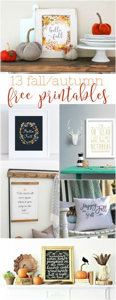 13 fall free printables, love these fall prints for easy home decor!