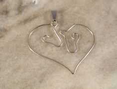 Horses in your Heart Wire Necklace by DelightfullyTwisted on Etsy