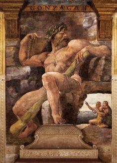Giulio Romano, Polyphemus (Sala di Psyche), 1526-1528, Fresco, Palazzo del Te.