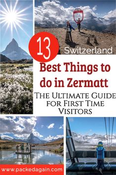 Ultimate 1st time visitors guide to Zermatt in Switzerland. You only need this guide to see the best of Zermatt. Ride up to nealy 4000m, marvel at the Matterhorn, visit the Ice Palace and enter the glacier. Views of the Matterhorn from several spots and find out how to reach them. The ultimate 2 day zermatt Trip for families or coupels. Switzerland travel . Best views in Switzerland , Matterhorn views , Zermatt in a day , Visit Switzerland , Switzerland during the summer , How to visit…