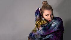 Acid violet silk scarf