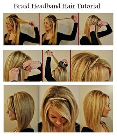 Make A Braid Headband For Your Hair | hairstyles tutorial by Hairstyle Tutorials