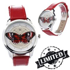 Red Butterfly Effect Watch  Wristwatch / Cool Modern by ZIZWatches, €40.00