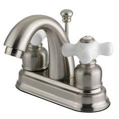 Kingston Brass KB561.PX Restoration Centerset Bathroom Faucet with Pop-Up Drain