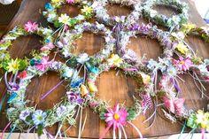 Woodland Fairy Party DIY Fairy Crowns via flouronmyface.com