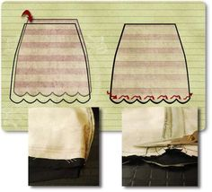 tutorial: how to sew a reversible scalloped hem skirt | Bored & Crafty