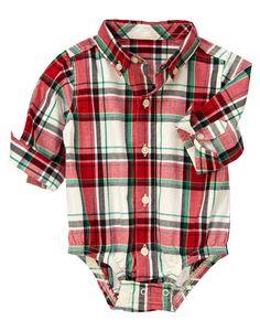 Plaid Shirt Bodysuit