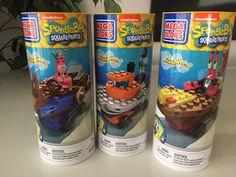 Mega Bloks Set of 3 Spongebob Squarepants Vehicles Building Toy Ages 5+ #MegaBloks
