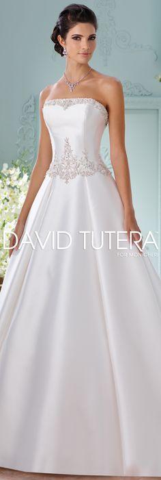 The David Tutera for Mon Cheri Spring 2016 Wedding Gown Collection - Style No. 116223 Selena #silkweddingdresses