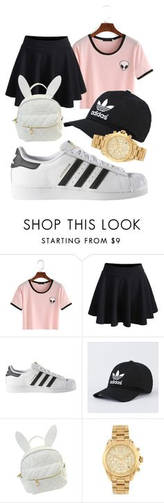 """Untitled #60"" by misszoe101 on Polyvore featuring adidas, cutekawaii and Michael Kors"