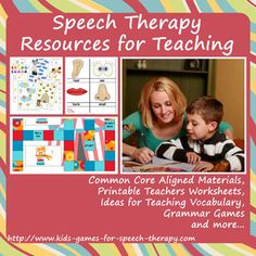 Speech Therapy Resources for Teaching