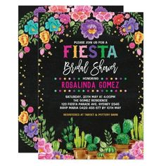 Shop Floral Fiesta Baby Shower Mexican Flowers Invite created by BlueBunnyStudio. Personalize it with photos & text or purchase as is! 30th Birthday Invitations, Bridal Shower Invitations, Party Invitations, Mexican Invitations, 21st Birthday, Flower Birthday, Birthday Ideas, Birthday Parties, Mexican Bridal Showers