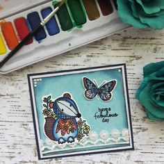 Have a fabulous day 🤗🦋 . . . #cardmakinghobby #cardcraft #congratscard #watercolor #stampinupcards #cardmakers #handmadecards #askartelu… Card Maker, Stampin Up Cards, I Card, Watercolor, Day, Frame, Instagram, Decor, Pen And Wash