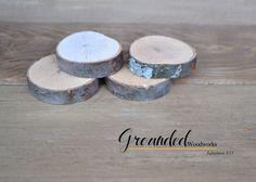 Wooden Refrigerator Magnets - Rustic Magnets - 4 Oak Wood Slice Magnets - Real Wood Magnet - Handcrafted Wood Home Decor, Fridge Magnet by GroundedWoodWorks on Etsy