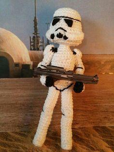 Amigurumi Tropper Star Wars. Crochet by Desayuno con ganchillos.