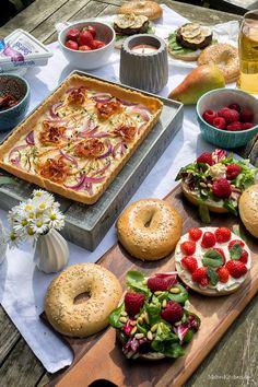 Tarte mit Ziegenfrischkäse, Birnen und Pancetta. | malteskitchen.de