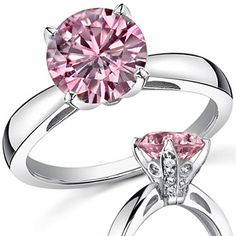 pink engagement ring this one made my heart skip a beat