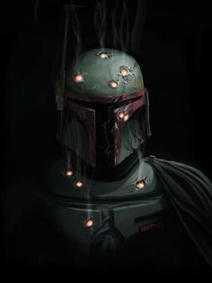 Boba Fett - whoever shot him had a good grouping...but a lousy weapon.