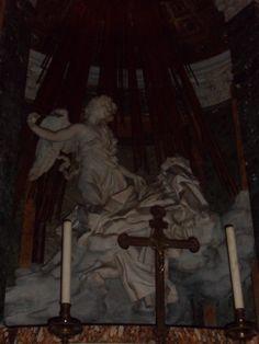 The Ecstasy of St. Teresa by Bernini in the Corano Chapel, Santa Maria della Vittoria. Santa Maria, Rome, City, Painting, Holy Mary, Painting Art, Rum, Paintings, Draw