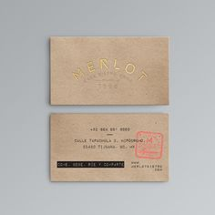 old fashioned business cards