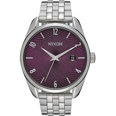 Nixon Bullet Watch (790 ILS) ❤ liked on Polyvore featuring jewelry, watches, nixon wrist watch, nixon, nixon jewelry, stainless steel jewelry and nixon watches