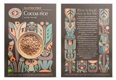 Petra Borner (illustration) / Studio H (design) - This is just refreshing and enticing! Cereal Packaging, Beer Packaging, Cardboard Packaging, Brand Packaging, Packaging Design, H Design, Design Show, Graphic Design, Gluton Free