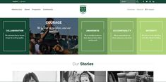 The use of expandable panels as a private school website design strategy. Pop Website, Design Strategy, Private School, Site Design, Gd, Design Trends, Blog, Ideas, Website Designs