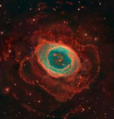 Messier 57 | Distance: 1,630 light years - One of the best examples of a planetary nebula is the Ring Nebula which represents the gaseous remains of a sunlike star which has entered its final stages of evolution.