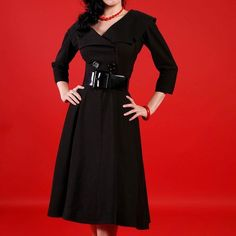 Bettie Page Secretary PinUp Dress Size Small/ never been used/ extremely heavy and well made- thick material. Belt was unfortunately lost and will not be provided Bettie Page Dresses