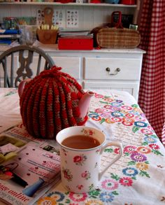 Tea looks a bit strong but I like the kitchen accessories..! :)