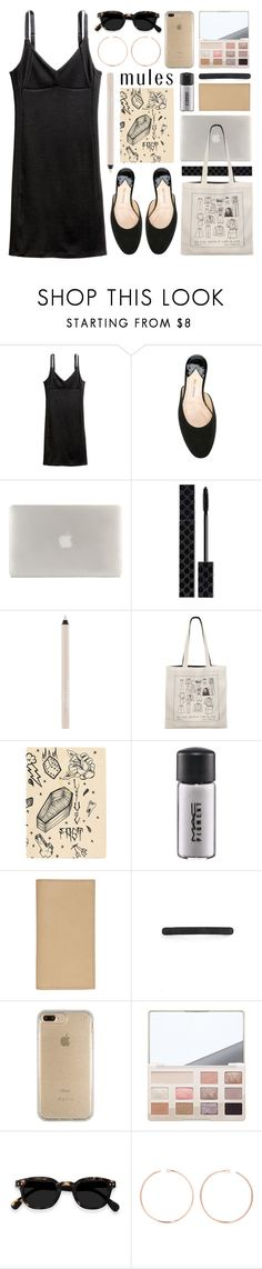 """""""in love with mules"""" by foundlostme ❤ liked on Polyvore featuring Paul Andrew, Tucano, Gucci, Maybelline, agnès b., Fine & Candy, MAC Cosmetics, MM6 Maison Margiela, L. Erickson and Speck"""