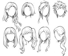 How To Draw Female Anime Hairstyles. You probably already know that How To Draw Female Anime Hairstyles is one of the top topics online today. Based on Anime & Manga Hair Reference, Art Reference Poses, Drawing Reference, Design Reference, Reference Book, Drawing Skills, Drawing Techniques, Drawing Tips, Drawing Ideas