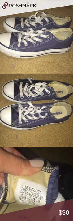 Navy converse Size women's 6 navy converse. Very good condition!! Converse Shoes Sneakers