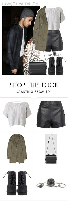 """Leaving The Hotel With Zayn"" by one-styles ❤ liked on Polyvore featuring Topshop, Joseph, AllSaints and Wet Seal"
