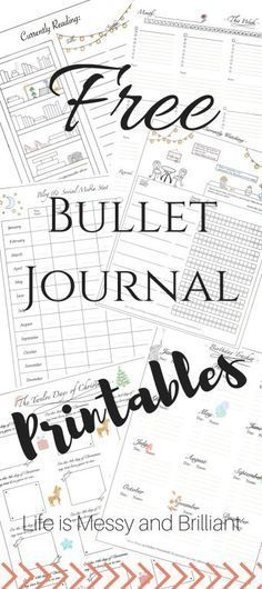 FREE bullet journal printables and PDF templates to help you organize your planner. Each bullet journal printable is filled with colorful images and flowers to add a touch of feminity to your planner. Bullet Journal Original, Key Bullet Journal, Bullet Journal Stickers, Planner Bullet Journal, Bullet Journals, Bullet Journal Calendar Ideas, Bullet Journal Layout Ideas, Bullet Journal Birthday Tracker, Bullet Stickers