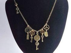Antiqued Brass Steampunk Necklace