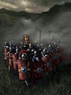 Roman Legion Marching Through the Fog Rome History, Ancient History, Military Art, Military History, Imperial Legion, Rome Antique, Roman Warriors, Roman Legion, Empire Romain